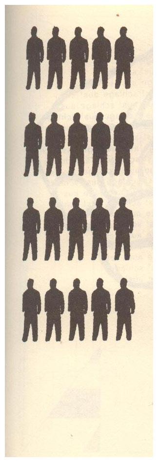 Veinte Figuras De Negro